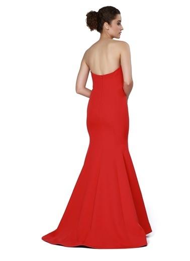 Pierre Cardin Straplez Abiye Elbise Kırmızı